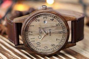 Робота Годинник з дерева, чоловічий, грецький горіх, 04AD4035WW