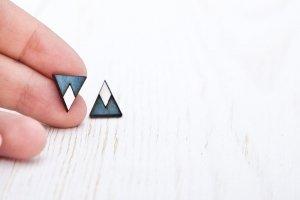 Серьги треугольники - Опис