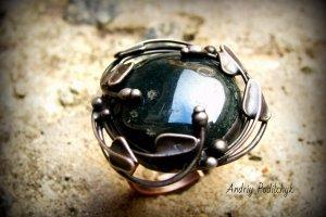 Перстень Моховий агат