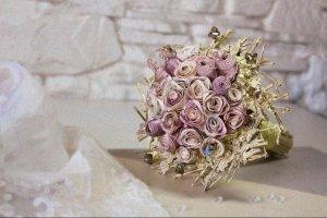 Букет нареченої  «Світанкові троянди»