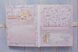 Детский фотоальбом для новорожденной девочки на первый годик - Опис