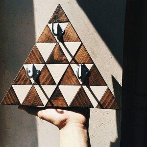 "Робота Ключница деревянная ""triangle"""
