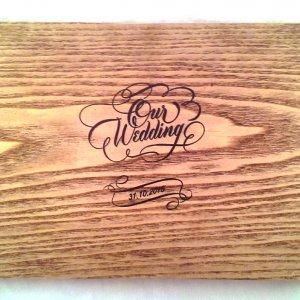 Работа Свадебные фотоальбомы из дерева