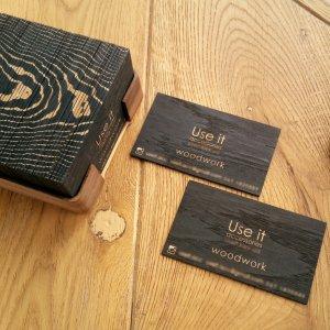 """Работа Визитки деревянные премиальной серии """"Black Oak"""" 100 штук"""