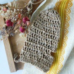Робота Мочалка - рукавичка из джута, Еко мочалка