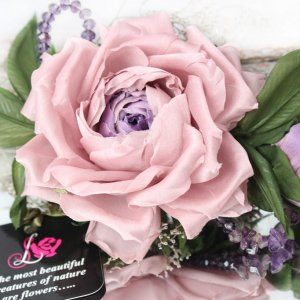 Робота Брошь роза «Шик». Цветы из ткани