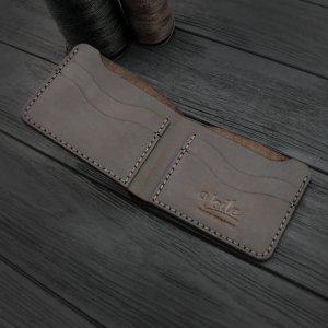 Робота Чоловік шкіряний гаманець ручної роботи VOILE mw10-brn