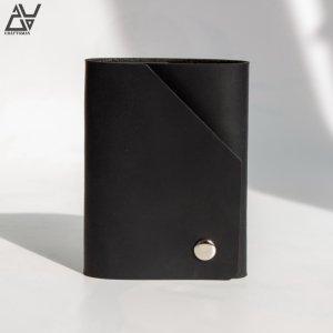 Работа Мини кошелек из натуральной кожи. (WU.MINI002 black)