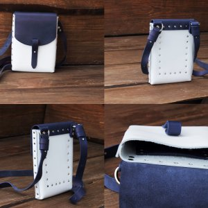 201674975432 Стильный кожаный женский рюкзак - Каталог рукоделия #139310