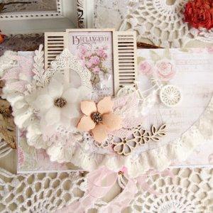 Робота Свадебный конверт в пудрово-розовом цвете