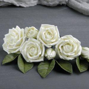 Робота Весільні шпильки з трояндами айвори,