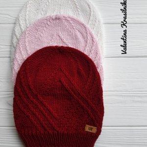 Робота Шапочка Intrigue (бордова, рожева, біла)