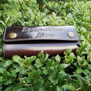 Робота Ключниця шкіряна іменна під замовлення на 6 ключів, ручний шов