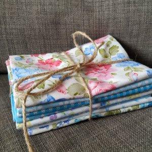 Набір тканин для печворку і ляльок тильд (8 клаптиків)