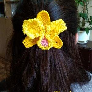 Робота Заколка для волос Орхидея