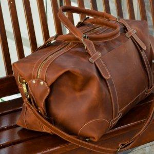 Робота Дорожная кожаная сумка Спортивная сумка цвета виски