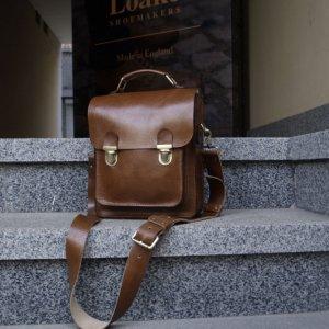 Робота Кожаная мужская сумка