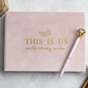 Робота Весільний велюровий альбом (рожевий)