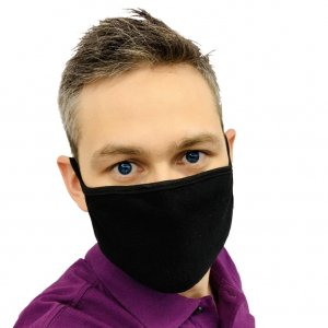 Робота Маска для обличчя захисна багаторазова Silenta Man, Black