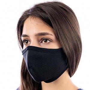 Робота Захисна маска на обличчя багаторазова Silenta Woman, Чорна