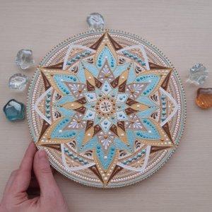 Робота тарілка декоративна М'ятний капучіно