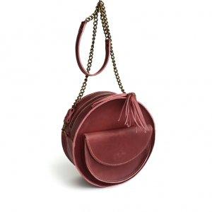 Робота Кругла шкіряна сумка