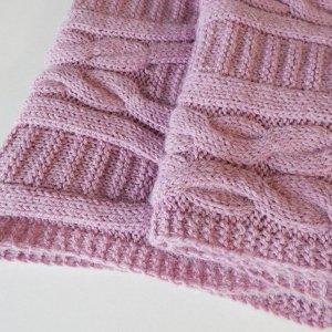 Робота Світло-рожевий шарф з альпаки
