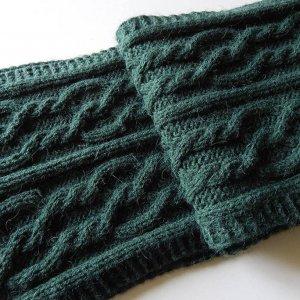 Робота Темно-зелений шарф з альпаки