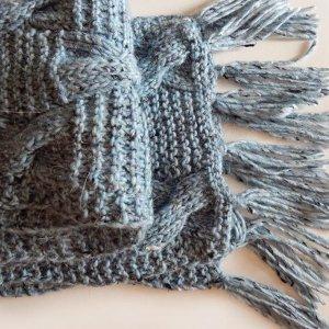 Робота Блакитно-сiрий шарф з альпаки