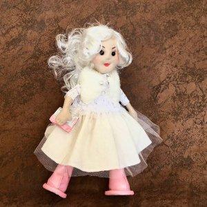 Робота Лялька ручної роботи блондинка в білому