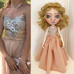 Лялька випускниця, лялька портретна випускниця