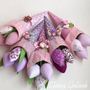 Робота Букет тюльпанів в упаковці
