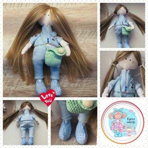 Робота Tilda with a mint bag - Лялька ручної роботи