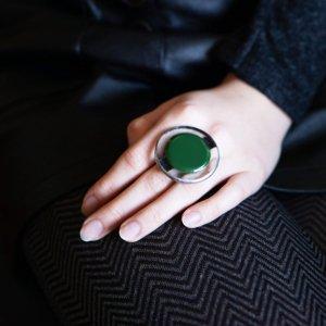 Круглий перстень з серії Planets, вітраж Тіффані, ф'юзинг