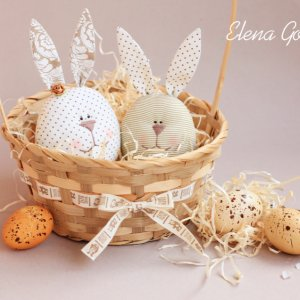 Робота Великодні зайці-яйця