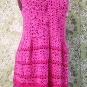 Работа Вязаное платье