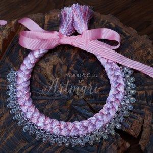 Робота Шелковое колье-коса Pink Lilac Silk