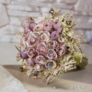 Робота Букет нареченої  «Світанкові троянди»