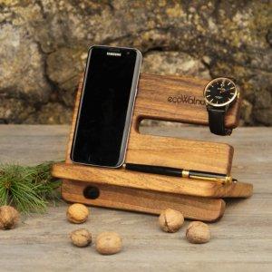 Эко Органайзер Из Дерева Подставка Для Телефона Для Мужчин