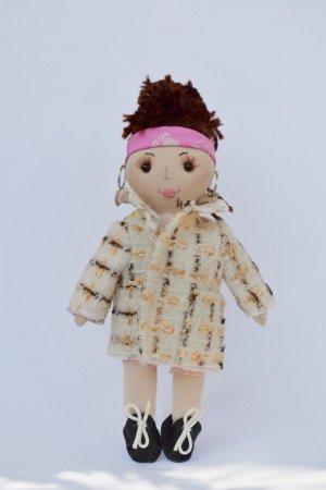 Лялька ручної роботи з модними одягом, подарунок дівчинці